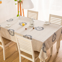 Cotton Linen Table Cloth Tablecloth Table Cover With Lace Edge For Dining Table High Quality British Style Spring New(China)