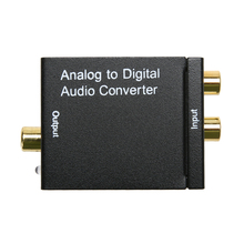 Analog to Digital Audio Converter Adapter L/R To SPDIF Coaxial Coax RCA Optical Toslink Audio Converter EU Plug