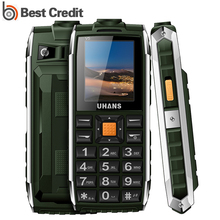 Original Uhans V5 Waterproof Shockproof mobile Phone Power Bank Long Standby elder cellphone 2500 mAh Led flashlight cell phone