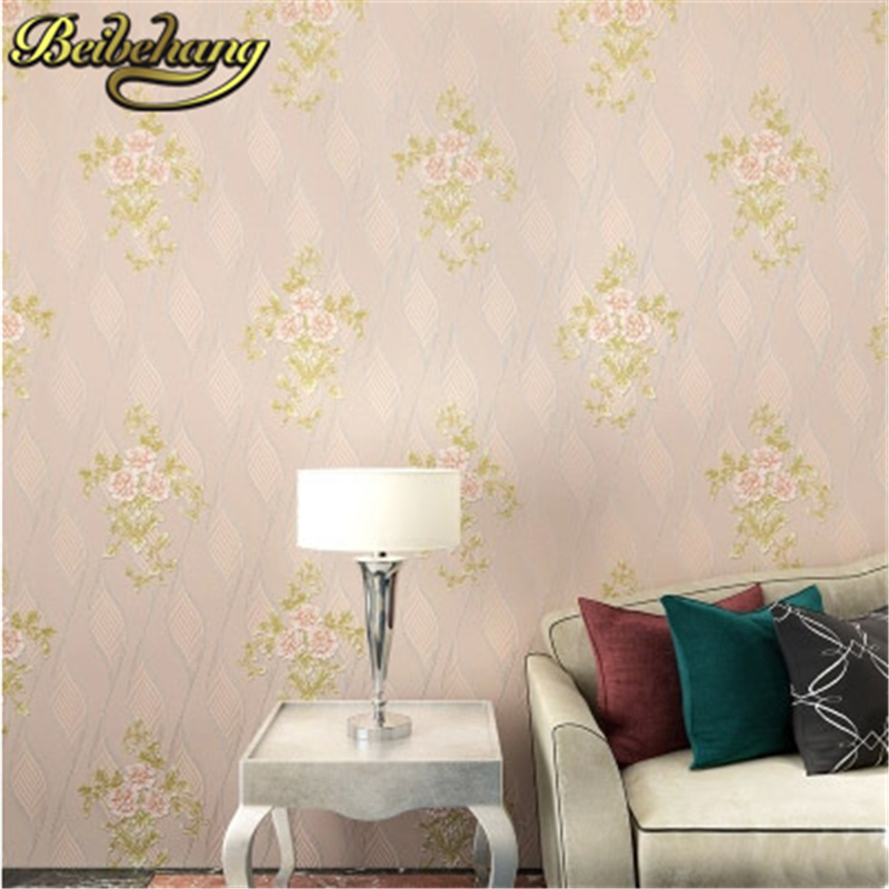 beibehang papel parede Romantic Beautiful Flower Curve Wallpaper Roll 3D Mural Non-woven living Room Decor Elegant Wall paper<br>