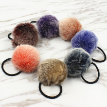 2017 New Artificial Rabbit Fur Ball Elastic Hot Hair Fashion Hair Ties Ponytail Holders Girls Hairband Headband Hair Accessories