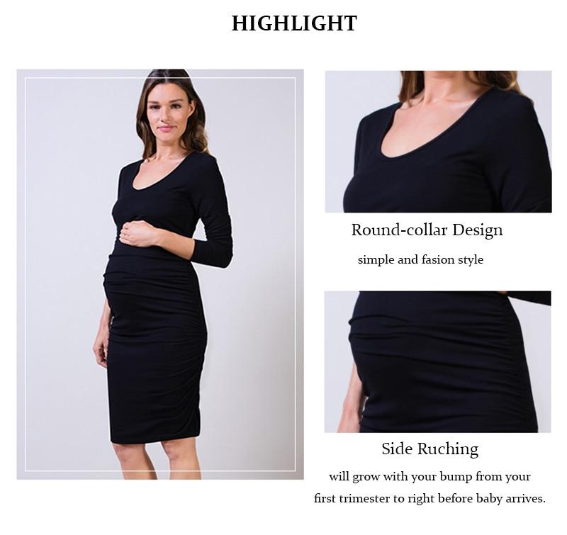 319c7926cdc0f Short Sleeved Elegant Lycra Maternity Dress – Maternity Mummies