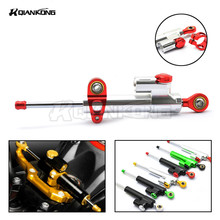 Universal Aluminum Motorcycle CNC Steering Damper For kawasaki ZXR400 ZZR Z750S ER-5 zx6r zx636r zx6rr 2000 2001 2002 2003 2004