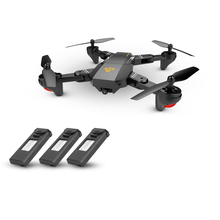 XS809HW Drone Wifi FPV 2.0MP 720P 120 FOV Wide Angle Camera Drone Foldable RC Quadcopter Dron Selfie Helicopter Extra Battery(China)