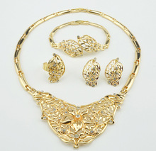 new Fashion Creative  Pendants Necklaces Cute Earrings Ring Bracelet jewelry sets Italy gold  colour jewellery