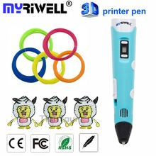 Myriwell 2nd Generation 3D pens RP-100B LED Display DIY 3D Printer Pen With 3Color 9M ABS Arts 3d pens For Kids Drawing Tools