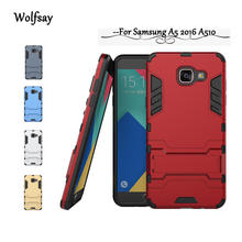 For Samsung Galaxy A5 2016 Case A510 A510h A510F Slim Robot Armor Shockproof Rubber Case For Samsung A5 2016 Phone Cover ]<