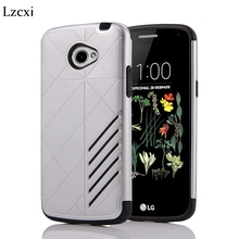 Lzcxi Hard Case For LG K5 Cover Hybrid Armor Rugged Rubber PC + Silicone Hard Back Cover For LG K5 X220 5.0 inch Coque