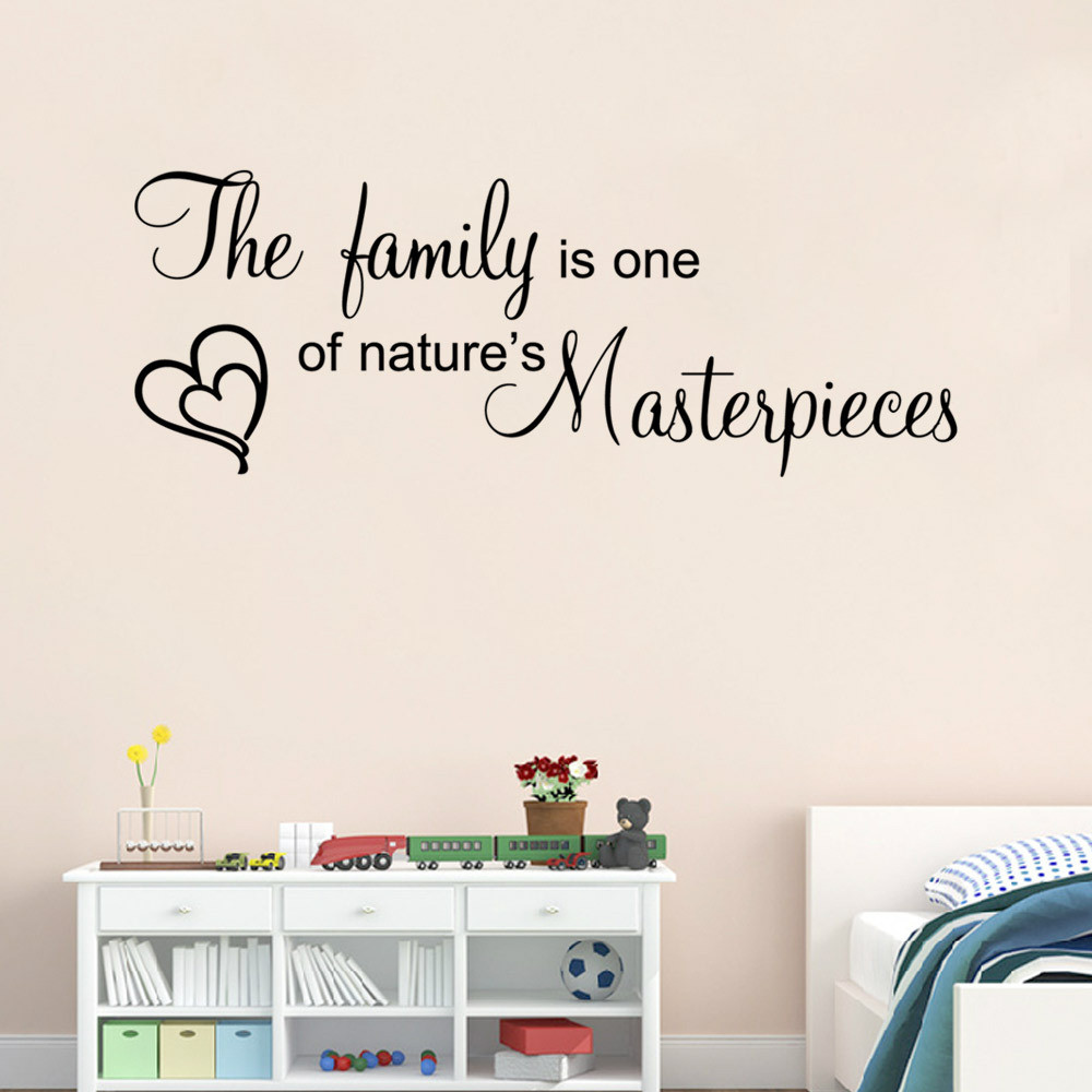 Online get cheap family quote decal aliexpress alibaba group family letter quote wall stickers vinyl decal art mural home decor home decor adesivo de parede amipublicfo Images