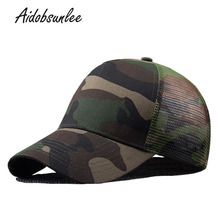 2017 New Arrival MEN'S HATS Men Camo Baseball Caps Mesh for Spring Summer Outdoor Camouflage Jungle Net Ball Base Army Cap Hot(China)