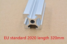 2020 aluminum extrusion profile european standard white length 320mm industrial aluminum profile workbench 1pcs