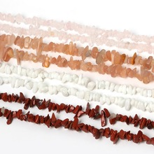 "Hot Fashion 3-5mm Chips Beads Red Carnelian Apatite Howlite Olivine Coral Picture Stone 34""/String for DIY Beads Bracelet Crafts(China)"