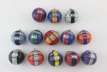 Simulation mini basketball Keychain Sport Keyring Brazil World Cup souvenir Gifts custom logo service promotion party favor
