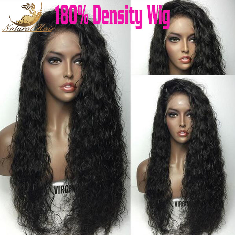 180% Density Glueless Full Lace Human Hair Wigs For Black Women 8A Lace Front Human Hair Wigs 12-24 Malaysian Deep Curly Wig<br><br>Aliexpress