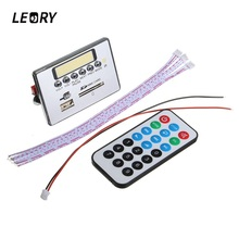 LEORY Wireless Bluetooth MP3 WMA Decoder Board 12V Audio Module With USB TF Card SD U Disk Port For Car Audio Amplifier Board(China)