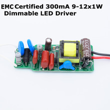 High Quality Dimmable Isolated 300mA 9W 10W 11W 12W Led Driver Power Supply AC 110V 220V for Dimming LED lights