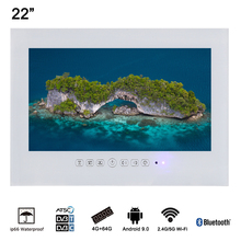 Souria 22 inch IP66 Waterdichte Nominale Full HD 1080i Bluetooth Wit Smart LED TV met WiFi Android 9.0(China)