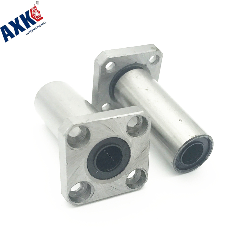 2pcs LMK16LUU 16mm Linear Motion Bearing Square Flange Bushing Router Shaft CNC