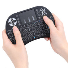 Hot Wireless Keyboard 2.4GHz English Version with Backlight Mini Touchpad Handheld for Android TV BOX Laptop Backlit