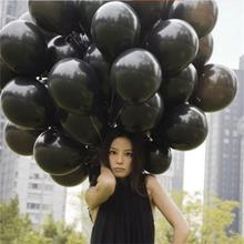 10pcs Cheap Black Latex Balloon Air Balls Inflatable Wedding Party Decoration Birthday Kids Party Float Balloons Classic Toys(China)