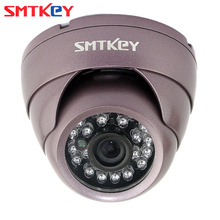 SMTKEY NTSC / PAL System CCTV Camera Purple shell Vandal proof Metal 700TV Lines IR Indoor CCTV Dome camera(China)