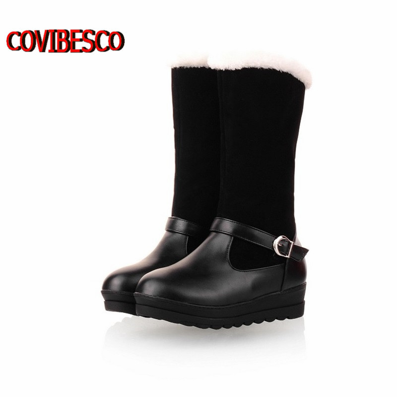 Size34-40, fashion fur inside female half boots snow women boots and womens autumn winter shoes woman knee high boots shoes<br><br>Aliexpress