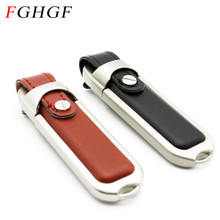 FGHGF Brown/Black Leather Model usb 2.0 usb flash drive pendrive 4GB 8GB 16GB 32GB memory flash stick free shipping