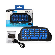 Newest Blue Mini 2.4G Wireless Bluetooth Keyboard Keypad Chatpad for PlayStation 4 PS4 Slim and PS4 Pro Game Controller Gamepad