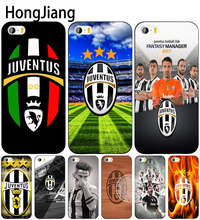 HongJiang juventus italy cell phone Cover case for iphone 6 4 4s 5 5s SE 5c 6 6s 7 8 plus case for iphone 7 X(China)