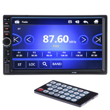 2 din Car Multimedia Radio Player 7'' HD Bluetooth Stereo FM Video Audio MP3 MP4 MP5 USB AUX Auto Electronics autoradio 7018B(China)
