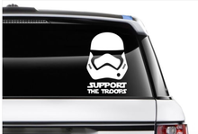 Support our troops Stormtrooper Star Wars Force Awaken Car Sticker Decal Car Bumper