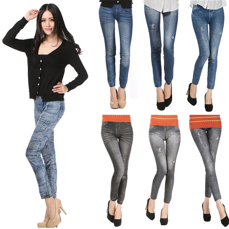 Comfortable Skinny Pants Denim Legins Women Fashion Sexy Women Jean Skinny Leggings Stretchy Slim Leggings 13