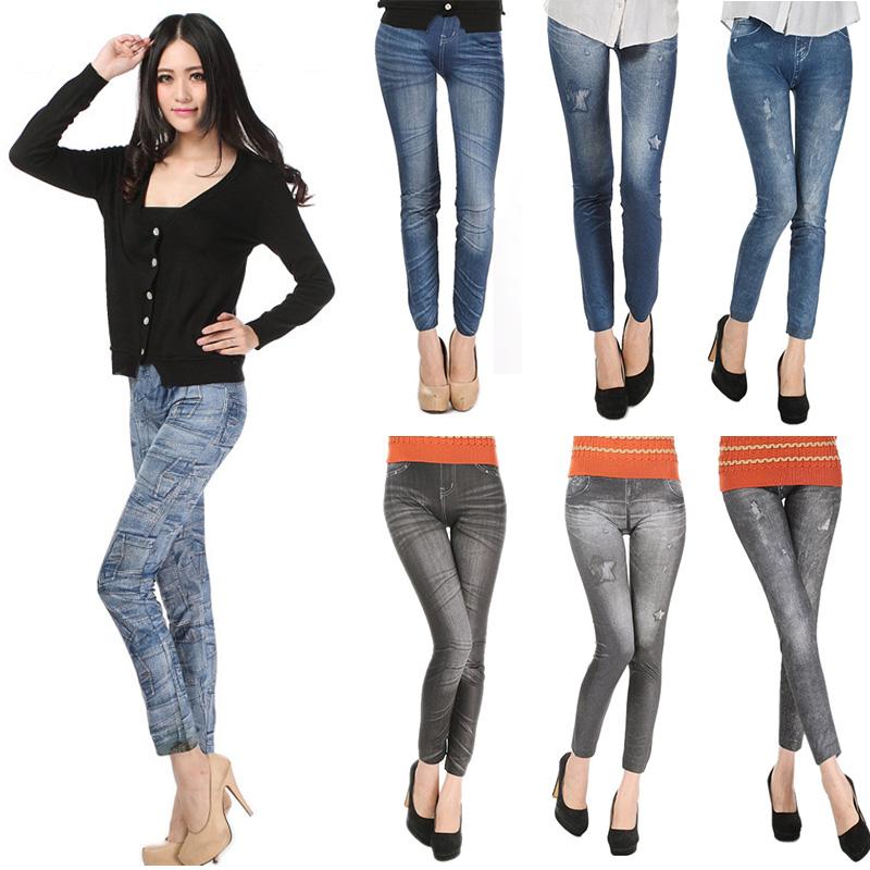 Comfortable Skinny Pants Denim Legins Women Fashion Sexy Women Jean Skinny Leggings Stretchy Slim Leggings 13