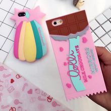 Silicon case for iphone 7 7plus meteor and chocolate candy cartton mobile phone case for iphone 6 6s 6plus 6s plus 7 7plus 5.5""