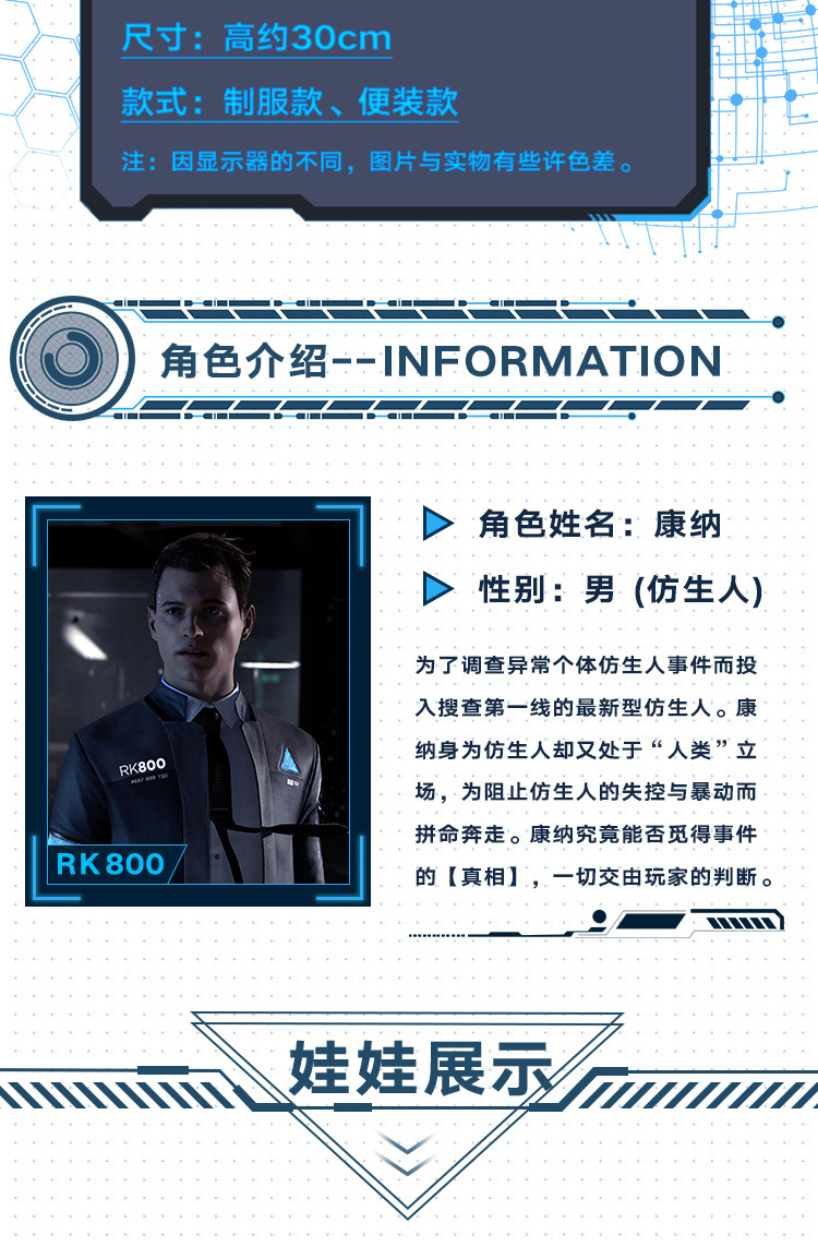 Detroit become human Connor uniform RK 800 (6)