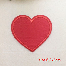New arrival 10 pcs red heart embroidered Iron On Patches TS garment bag phone Appliques accessory free shipping