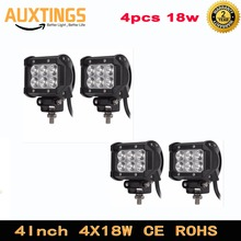 4Inch 18W Crees Led Work Light Bar Spot Flood Beam Offroad Driving Bar 12V Led Lamp For Indicators Motorcycle Tractor Truck