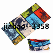 2017 Summer Novelty Hip Hop Hijab Skull Headband Magic Seamless Bandana   Face Mask Neck Tube Scarf  Bandanas