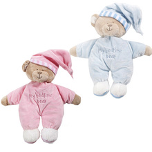 1pc High quality Sweet Cute Animal baby toys sleep appease baby plush doll soft Obedient Sleep Calm bear Doll