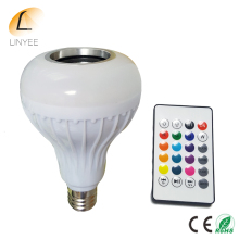 E27 Smart RGBW Wireless Bluetooth Speaker Bulb Music Playing Dimmable LED Bulb Light Lamp with 24 Keys  Remote Control