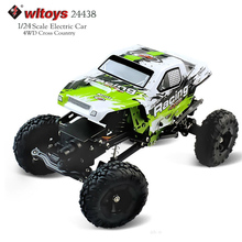 RC Car Wltoys 24438 1:24 Remote Control Off-road Racing Car High Speed Stunt SUV Toy Gift For Boy RC Mini Car(China)