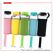 500ml Korea Style Newest Design Portable Clear Sport Bicycle Plastic Fruit Lemon Juice Water Bottle with bag free shipping