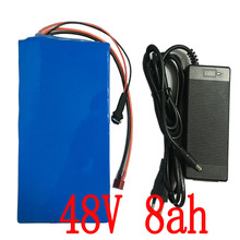 48V 8AH Electric Bicycle battery ebike Lithium Battery with PVC case 15A BMS,54.6V 2A charger