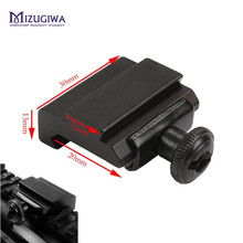 MIZUGIWA Flat Top 20mm to 11mm Weaver Picatinny To Dovetail Rail Adapter Base Mount Hunting Caza Long 30mm Scope Accessories(China)