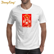 DongKing CCCP Soviet Union Workers Solider Print T Shirt Men White Cool Tee Gifts for Him Her Regular Slim Fit for ladies(China)