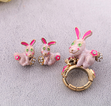 Women Adjustable Ring Fashion Cute Animal Designer Jewelry Personalized Rabbit Ring Online Store
