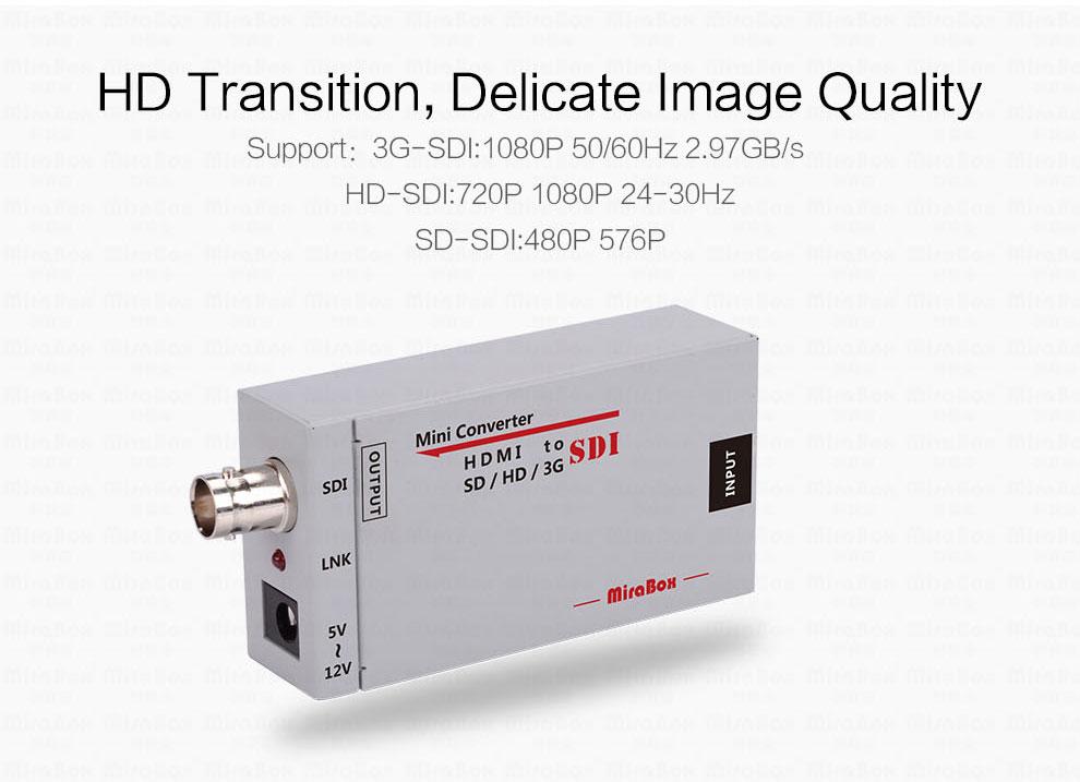 Mini 3g HDMI To SDI Converter Full HD 1080P HDMI to SDI Adapter Video Converter with Power Adapter for Driving HDMI Monitors (4)