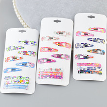 Buy 1 set lot Cute Printing BB Clips Kids Hairpins Children Headwear Baby Clips Headdress Elastic Hair Bands Girls Accessories A6 for $1.29 in AliExpress store