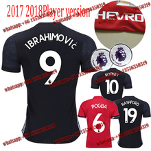 Free patch 2017 2018 Thai AAA best Quality adult Shirts size S-4XL Manchesteer 17 18 Home Away 3RD Uniteds Shirts free shipping