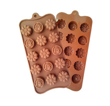 1PCS Silicone chocolate mold,cookies mold,3 Style of Flowers Shape Fondant Cake Tools, Cake Decorating L015(China)